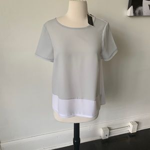 NWT French Connection Semi Sheer Blouse